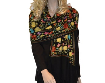 Scarf/Scarves/Shawl/Shawls/Embroidery Shawl from Cashmere Pashmina Group (17)