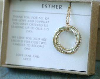 Mother of the bride gift for mother of groom necklace for mom jewelry for wedding gift for mom - Lilia