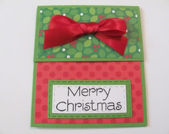 Merry Christmas Gift Card Holder, Holiday Greetings Gift Card Envelope, Gift Cards, Holiday Money Holder Card, Holiday Gift Card Holders