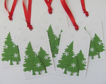 Christmas Tree Gift Tags, Christmas Tags, Christmas Favor Tags, Christmas Hang Tags, Holiday Gift Tags, Tree Gift Tags,Christmas Gift Tags