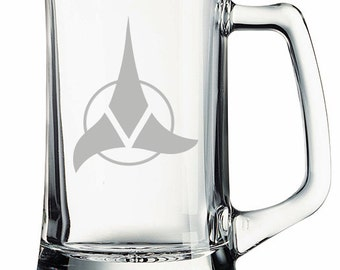 Star Trek Klingon Emblem Etched Mug Personalized