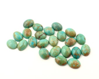 23 Turquoise cabochons from Arizona - 19ct / appx 6x8mm (111)