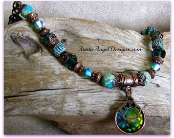 Rainbow Bridge Crystal Bracelet, Rainbow Crystal Paw Print Jewelry, Rainbow Bridge Pet Memorial Bracelet, Pet Loss Sympathy, Pet Loss Gift