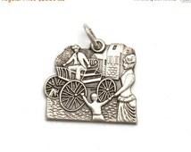 SALES EVENT Elwood Haynes Horseless Carriage Bracelet Charm Heritage Sterling Silver Portland Indiana