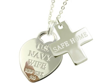 Sterling Silver Navy Wife Necklaces SH (Free Shipping)