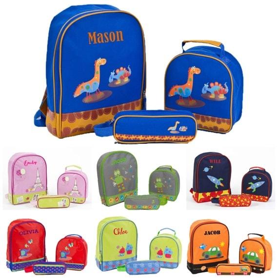 Personalized Monogrammed Preschool Backpack Set