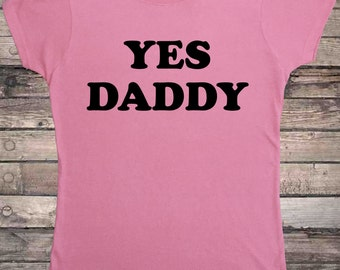 Yes Daddy Submissive Pink DDLG T-Shirt