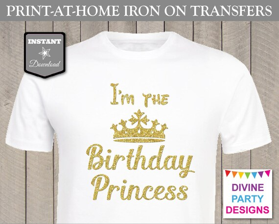 Instant Download Print At Home Glitter I 39 M The Birthday