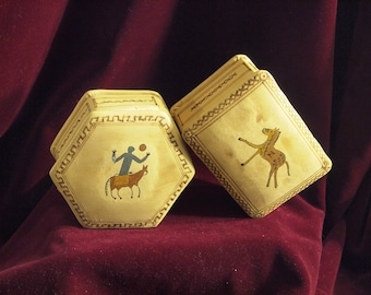 Supple & Super Soft Leather Boxes- Hand Painted