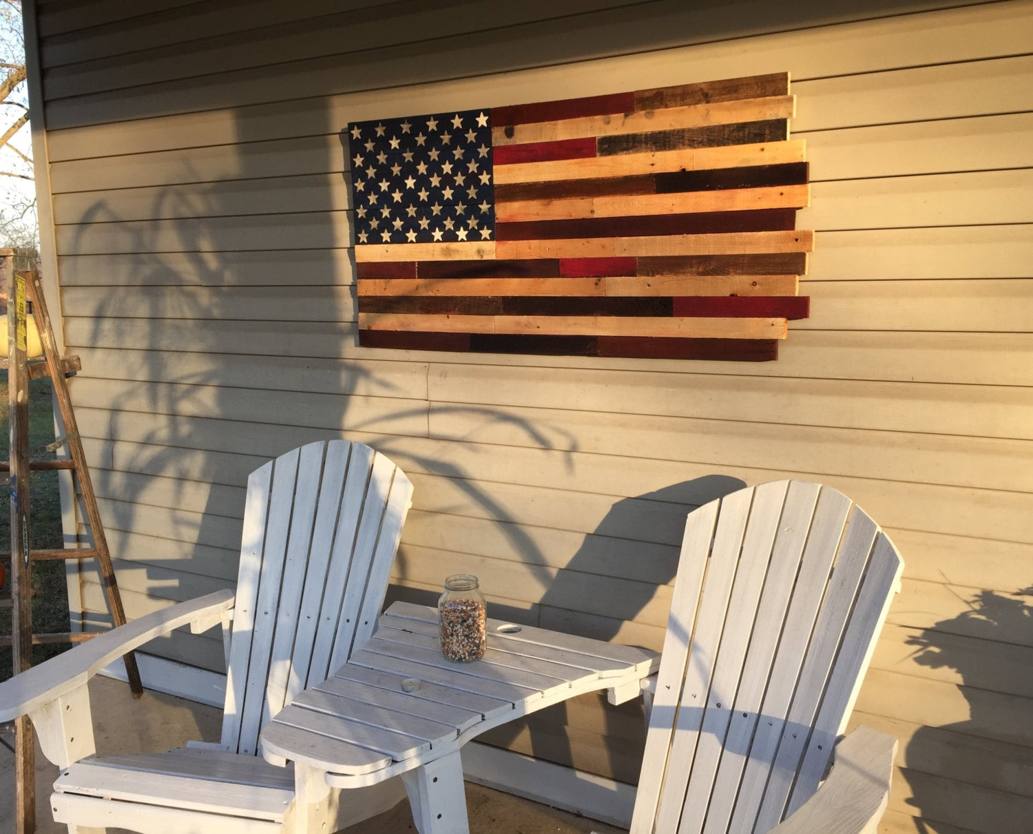 Reclaimed pallet American flag wall art 42