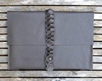 """Dark Brown Macbook Leather Case, MacBook Air sleeve, MacBook Air case, Leather MacBook Air 13"""" sleeve, Macbook cover, Brown MacBook holder"""