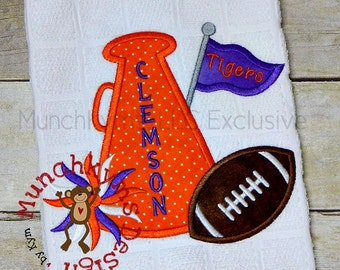 Megaphone Football Applique
