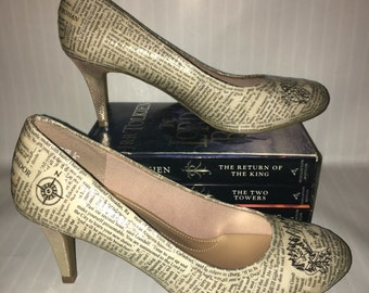Lord of the Rings Book High Heel Shoes