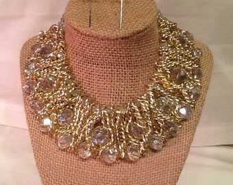 Large Clear Crystal Collar