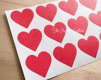 Red Heart Stickers Envelope Seals 25mm - Pack of 60