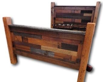 Reclaimed Barnwood Bed Multi Tone