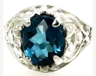 Summer Sale, 30% Off, SR004, London Blue Topaz, Sterling Silver Ring