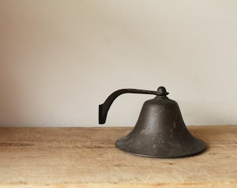 Marine / Ship Bell - Dinner - School House - Brass - Antique / Vintage - Hanging Wall Mounting