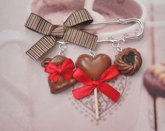 brooch chocolate