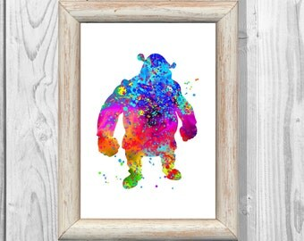 Shrek  Poster Watercolor Print Art Print Giclee Wall Illustrations Art Print 8x10 Wall Decor  Home Decor No90