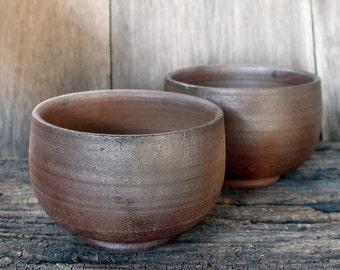 Ceramic Tea Bowl, Ceramic Japan, Tea Bowls, Large Tea Cups, Matcha Chawan, Wood Fired Pottery, Bizen - Yaki, Rust Surface, Made In Japan.