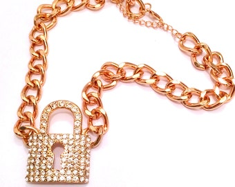 GOLD LOCK BLING Chain necklace