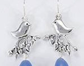 Bluebird of Happiness Drop Earrings