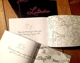 Erotic Adult Coloring Book : Letterotica