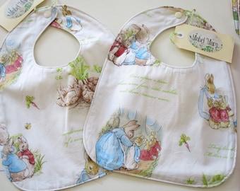 Peter Rabbit Baby Bib with Waterproof Backing