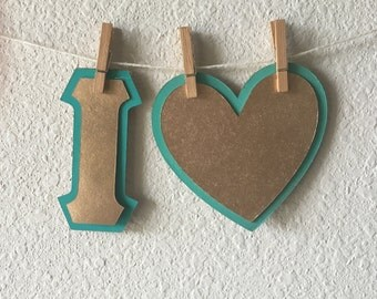 I HEART <3 Greek Letter Stencil - Template