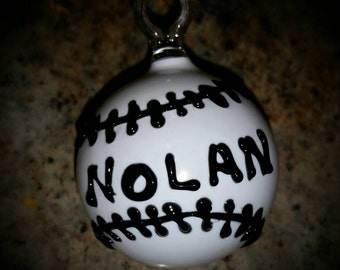Custom Glass Ornament with your name!