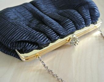 Black Clutch by Béchamel Origami Pleated Cocktail Handbag