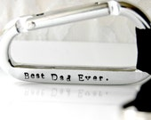 Personalized Carabiner, Father's Day Gift, Hand Stamp Carabiner, Wedding Gift, Groomsmen Gift, Wedding Favor, Gift From Child, Gift For Dad