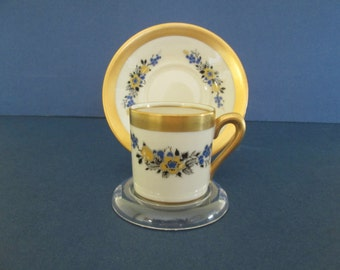 Fine Concorde China Demitasse Cup and Saucer Made in the USA