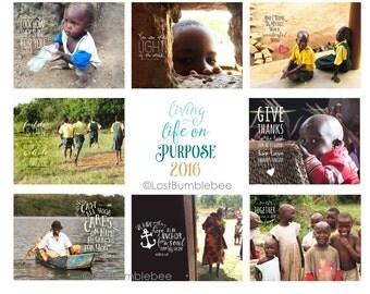 12 Inspirational Digital Files for Printing Your Own Calendar : Instant Download - Bible, Scriptures, Inspirational Quotes, Lyrics