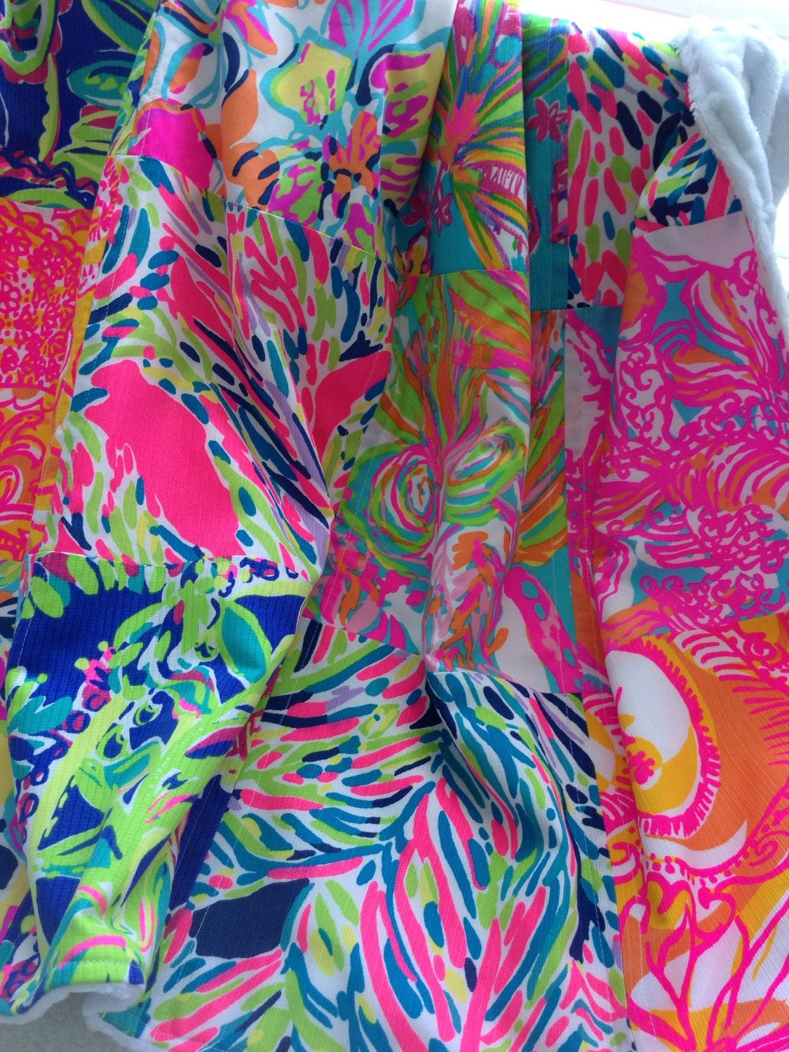 Lilly Pulitzer Baby Blanket Lilly Pulitzer Patchwork Quilt