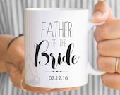 father of the bride gift, personalized wedding gift, parents wedding gifts, father of bride gift, wedding gifts for dad, wedding mugs MU242