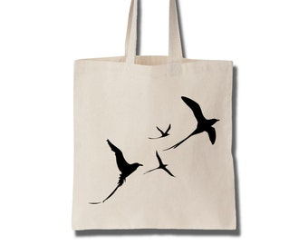 Cotton Tote Bag Women Birdy