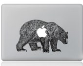 Macbook 13 inch decal sticker Polar Bear and apple art for Apple Laptop