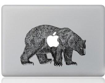 Macbook 13 inch decal sticker Polar Bear and apple art for Apple Laptop