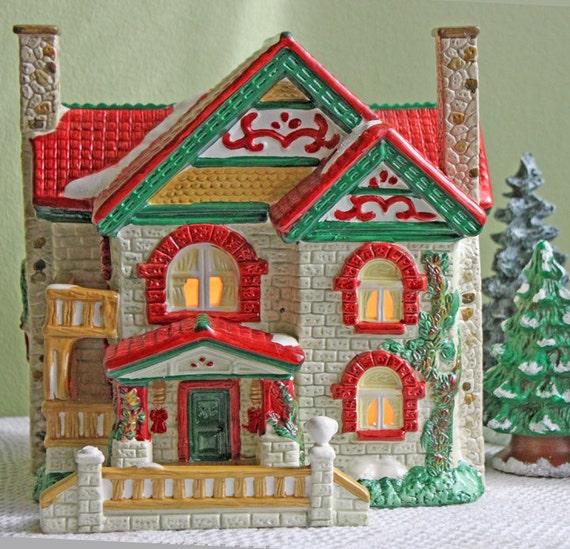 Lighted Christmas Carolers Ceramic Decoration By: Christmas Decoration. Lighted Porcelain House For Xmas