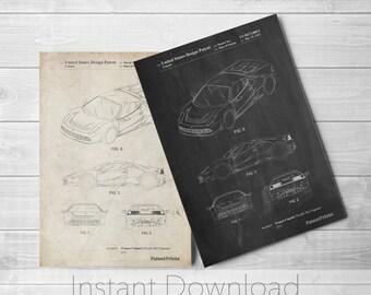 Sports Car Printables, Car Poster, Exotic Sports Car, Teen Boy Wall Art, Mechanic Gift,  PP0466