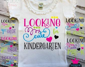 Pre-School, Pre-K, Kindergarten, 1st Grade, 2nd Grade 3rd Grade..& more T-Shirt Birthday Razorback Dress Heat Transfer Back to school