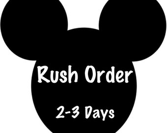 Minnie Mouse Ears - RUSH ORDER 2-3 DAYS