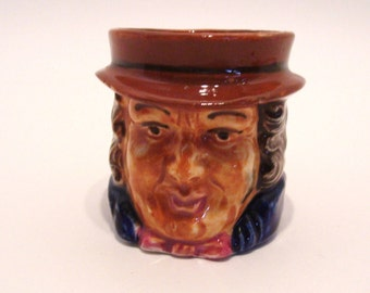 Miniature Toby Character Jug Occupied Japan 2.5 Inches Tall 1945 - 1952