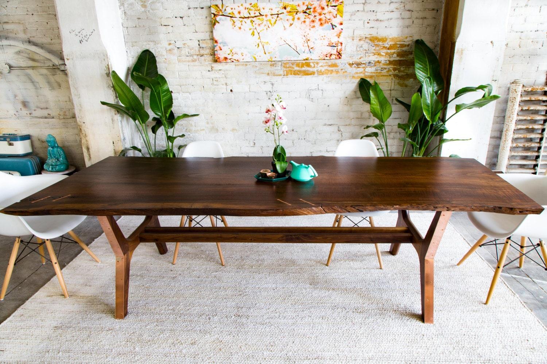 walnut live edge dining table conference table harvest. Black Bedroom Furniture Sets. Home Design Ideas