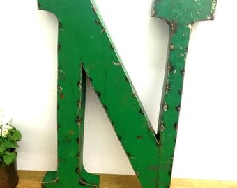 Large Metal Letter N