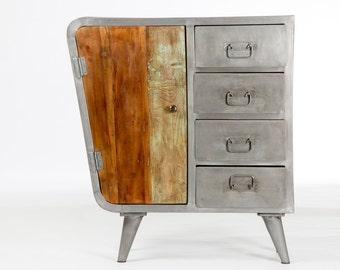 Design convenient metal and wood
