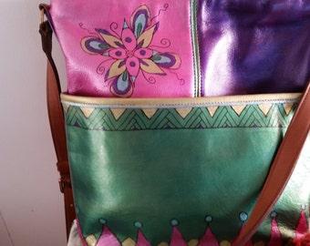 Handpainted coach bag
