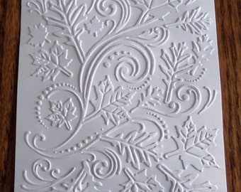 FALL LEAVES SWIRL Embossed Card Stock Panels Perfect for Scrapbooking and Card Making - Set of 12